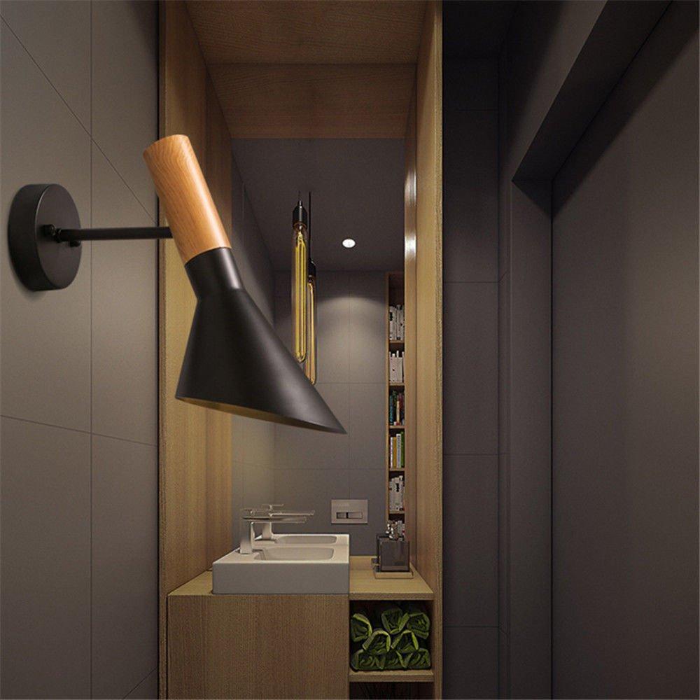 StiefelU LED Wandleuchte Wandleuchte Wandleuchte nach oben und unten Wandleuchten Wandleuchten Retro schwarz Weiß Dekor Schlafzimmer Bett Beleuchtung Wandleuchten, schwarz 25d2e4