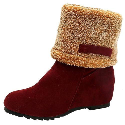 Zarupeng Botas Mujer Invierno Tacon Forrado Calentar Botas Altas Botines Moda Casual Outdoor Zapatos de Nieve Snow Boots: Amazon.es: Zapatos y complementos