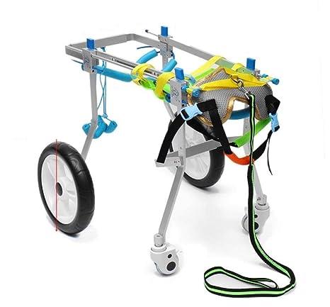 HLMF Carrito para Silla De Ruedas para Mascotas Aluminio para Discapacitados Gato Perro Patas