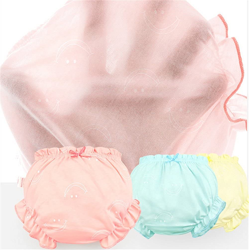 JIEYA 3-Pack Baby Girls Underwear Toddlers Training Pants Briefs,Assorted Color