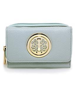 Womens Medium Wallet Purses For Ladies Female Handbag Card Holder Newlook Luxurious And Stylish, Design 2 Blue