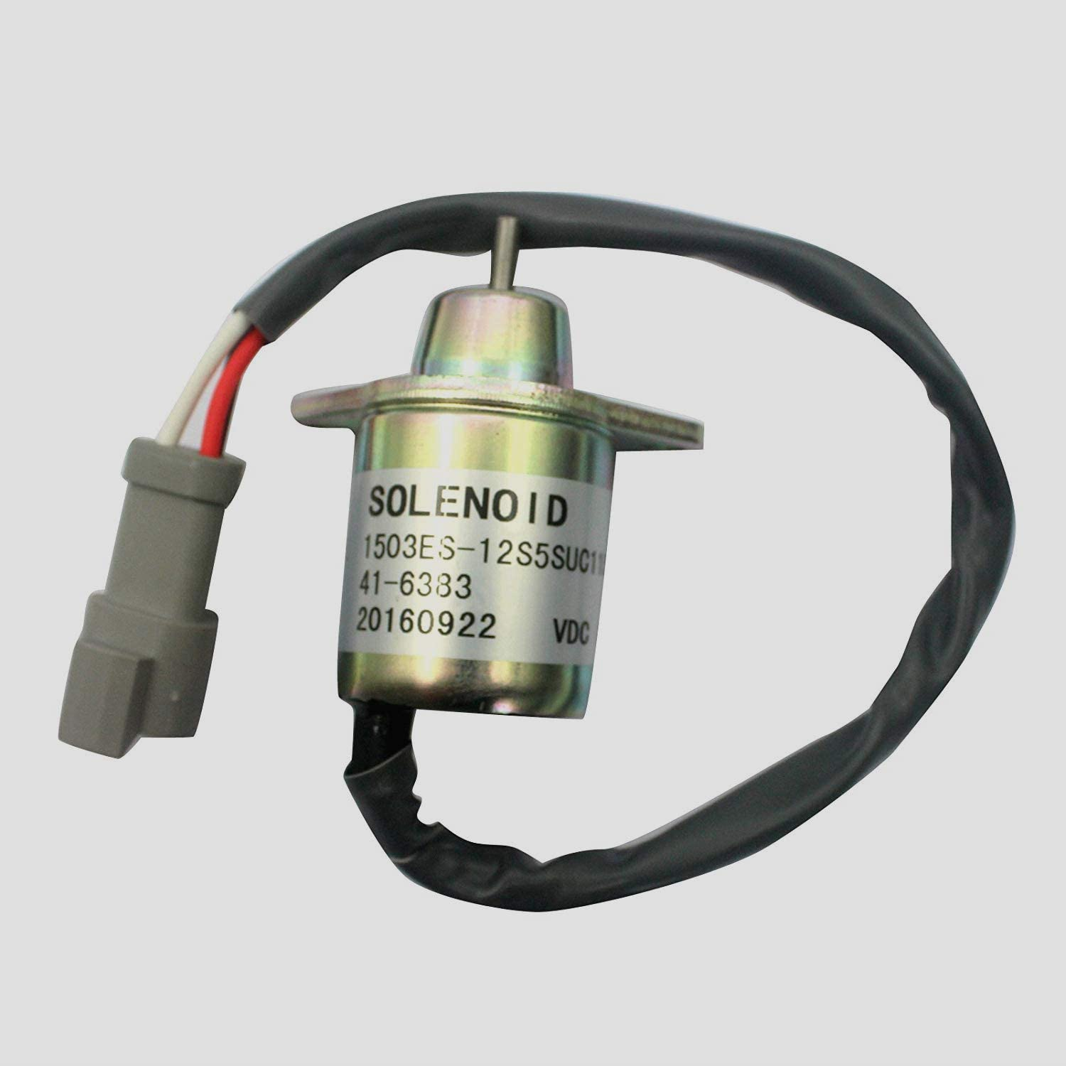 41-6383 1503ES-12S5SUC11S Stop Solenoid SA-4564 SA-4920 DC12V Fuel Shutdown Solenoid Cut Off Solenoid for for Thermo King Engine Excavator Aftermarket Parts