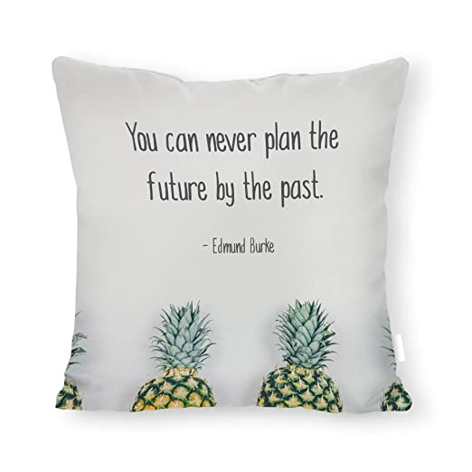 You Can Never Plan The Future by The Past - Funda de cojín ...