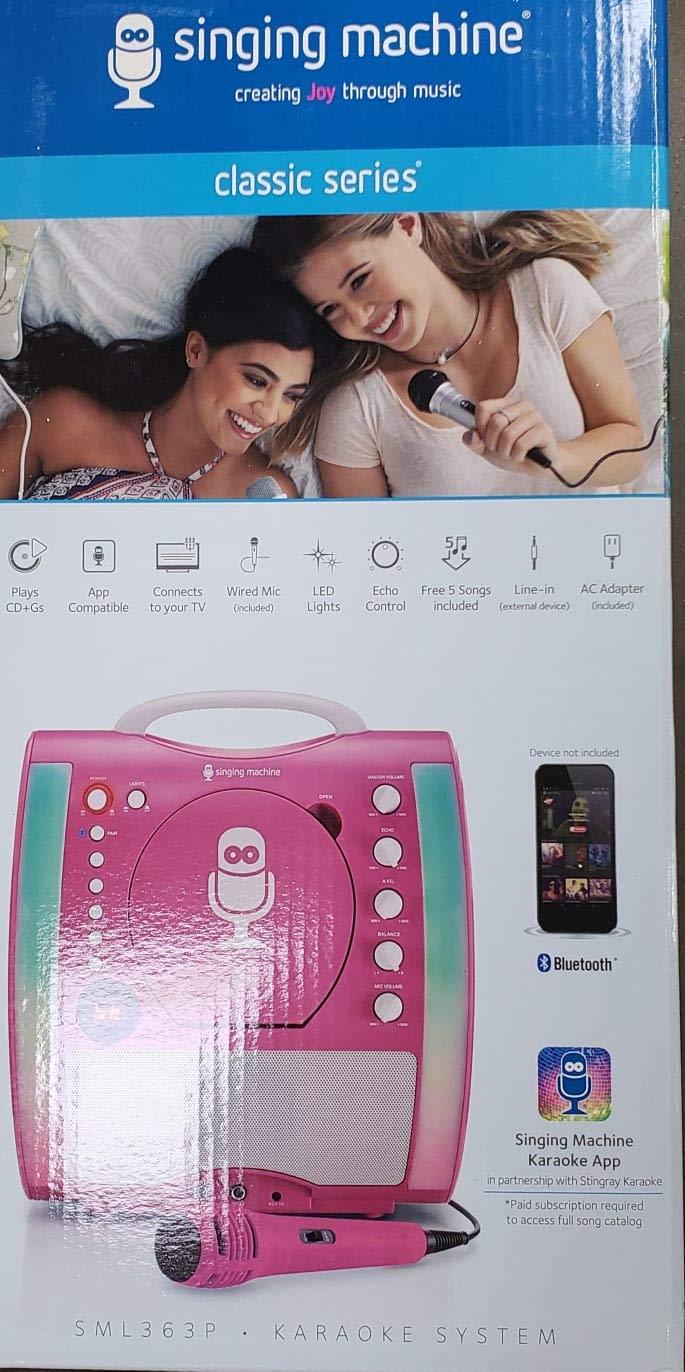 Singing Machine - Classic Series - SML363P (Pink) Bluetooth Karaoke System by SingingMachine (Image #3)