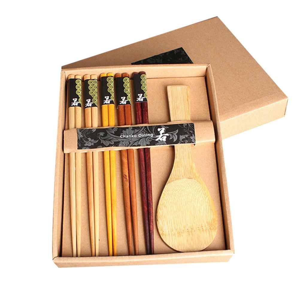 Amazon.com : YJYdada Variety Handmade Japanese Natural Wood Wooden ...