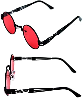 ca5f1afaa68 Men s Women s Round Shape Bad and Boujee Hip Hop Swag Quavo Metal Sunglasses  Retro