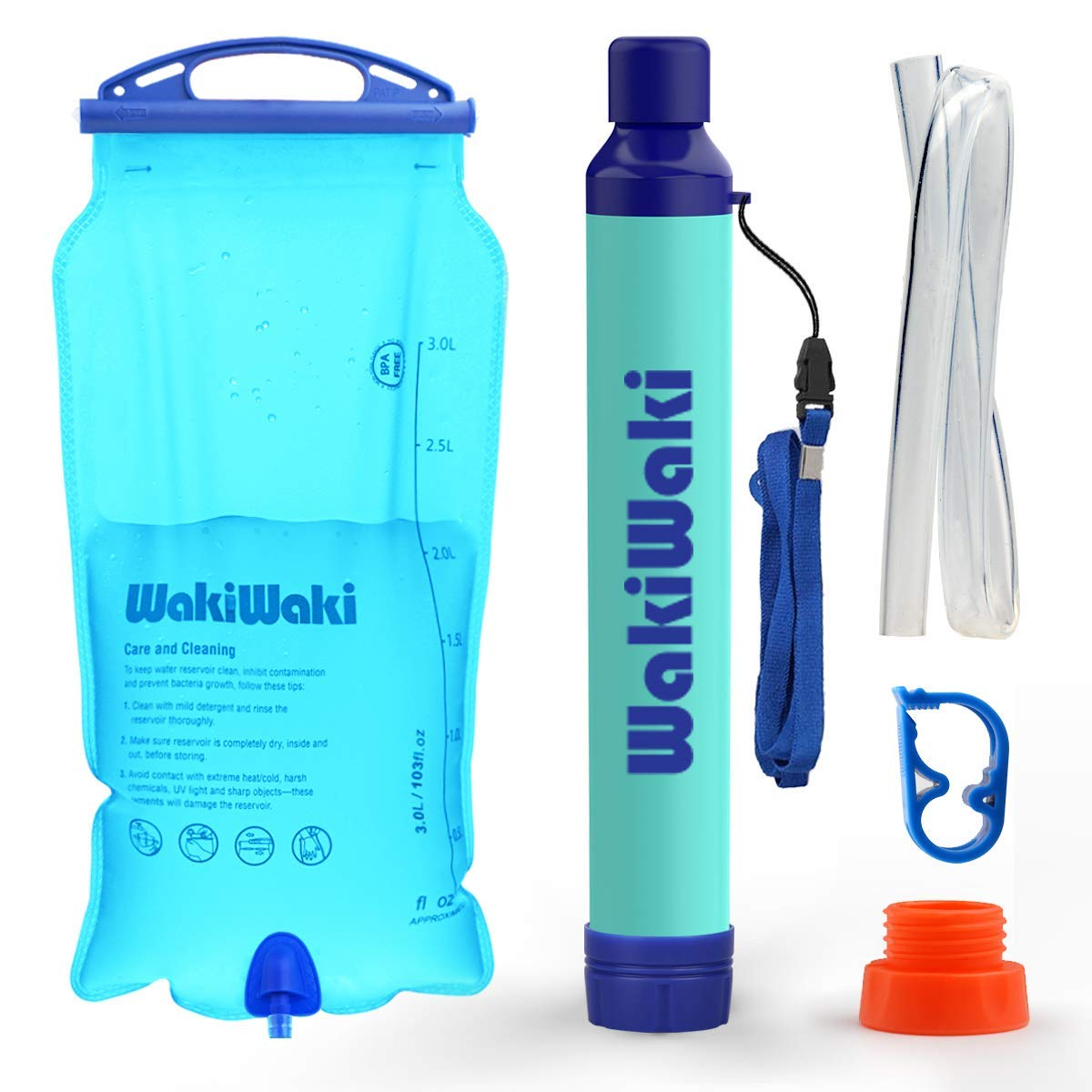 Membrane Solutions Portable Gravity Powered Water Purifier,High-Volume Gravity-Fed Purifier for Camping and Emergency Preparedness,High Capacity 3L by Membrane Solutions