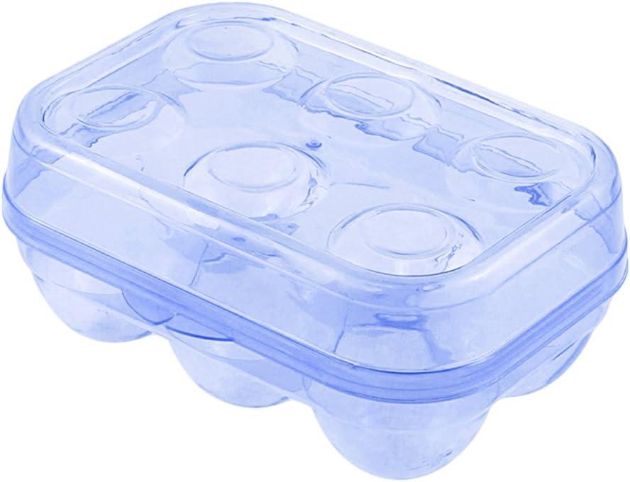 Yoha funda para dispensador de viaje de camping refrigerador cajón portátil huevo Caja de almacenaje huevos transparente delicado 6 girds transporte: Amazon.es: Hogar