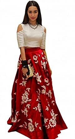 17d7d81b1f04f0 Image Unavailable. Image not available for. Colour  Pramukh Fashion Women s  Banglori Silk Lehenga ...