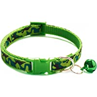 Cat Collar with Bell,Pet Necklace for Puppy Small Dog Kitten Kitty Collar with Camouflage Pattern for Walking Training…