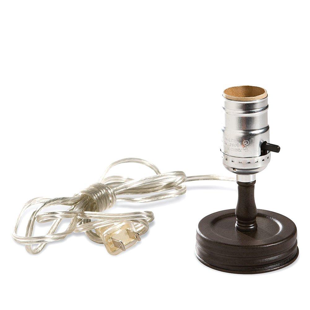 Mason Jar Lamp Adapter - Job Site And Security Lighting - Amazon.com