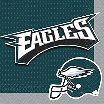 Philadelphia Eagles Luncheon Napkins NFL or Football Sports Party Tableware 16 Pieces Made from  sc 1 st  Amazon.com & Amazon.com: Philadelphia Eagles Luncheon Napkins NFL or Football ...