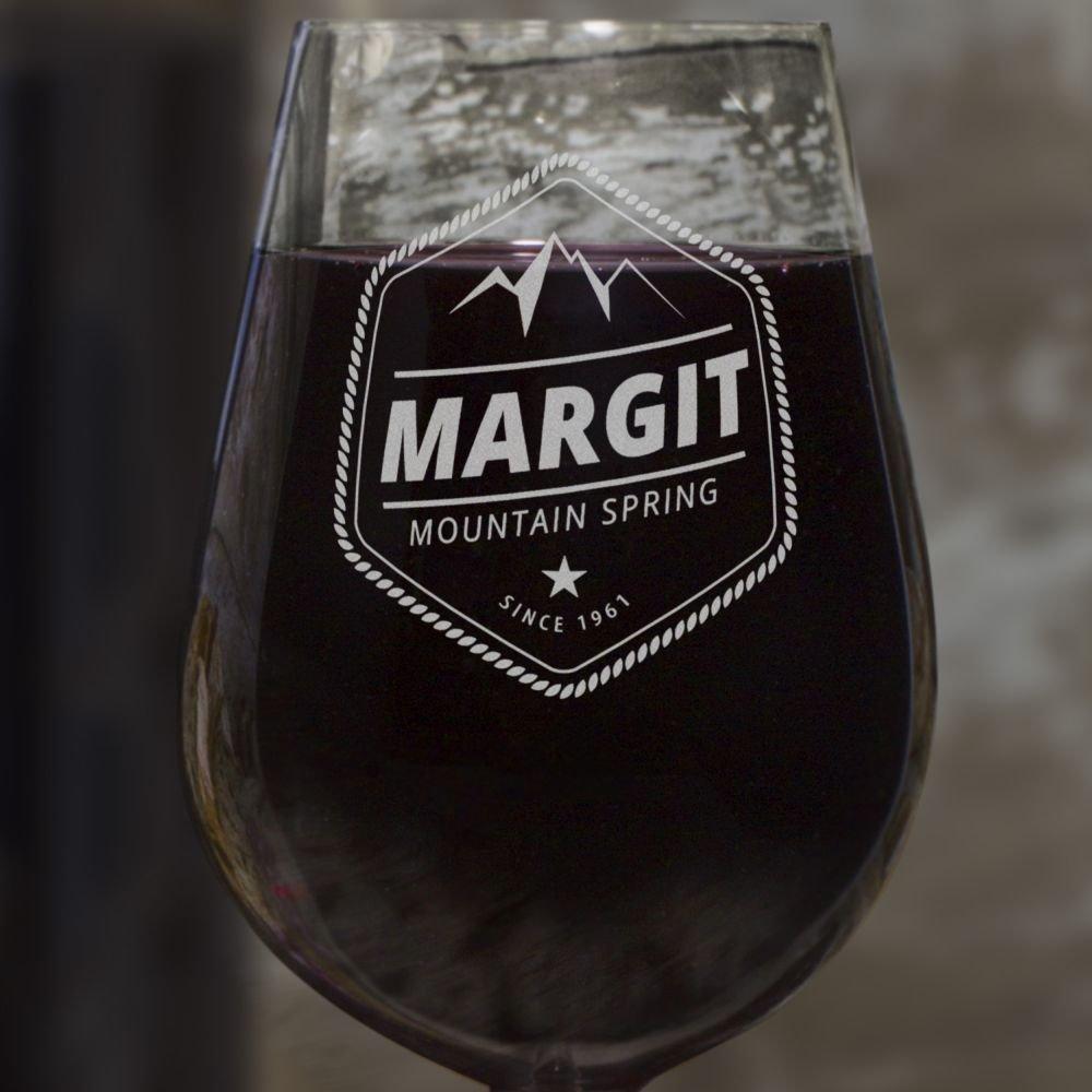 Design Mountain Spring Leonardo® Weinglas mit Gravur PrintPlanet® Rotweinglas mit Namen Margit graviert