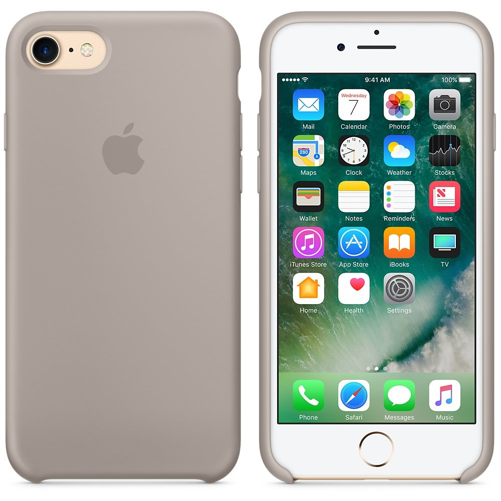 Apple Silicone Case for iPhone 7 - Pebble