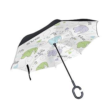 HYJDZKJY Paraguas invertidos de Doble Capa Paraguas Plegable ...