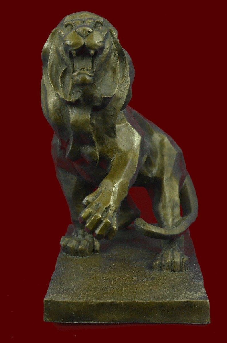 ヘンリー・ムーアの装飾することでグッズブロンズ彫刻、像荒しワイルドライオン