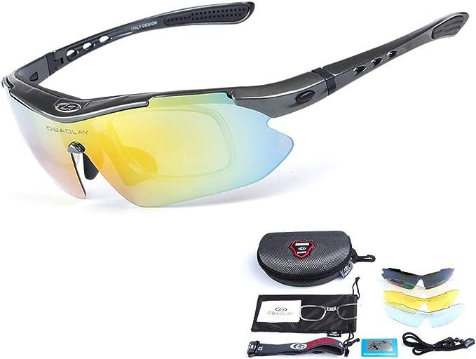 OBAOLAY Goggles Polarized Cycling Bike Sunglasses 5PCS Lens