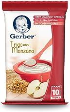 Gerber Cereales Trigo con Manzana, Etapa 3 (Paquete de 12)