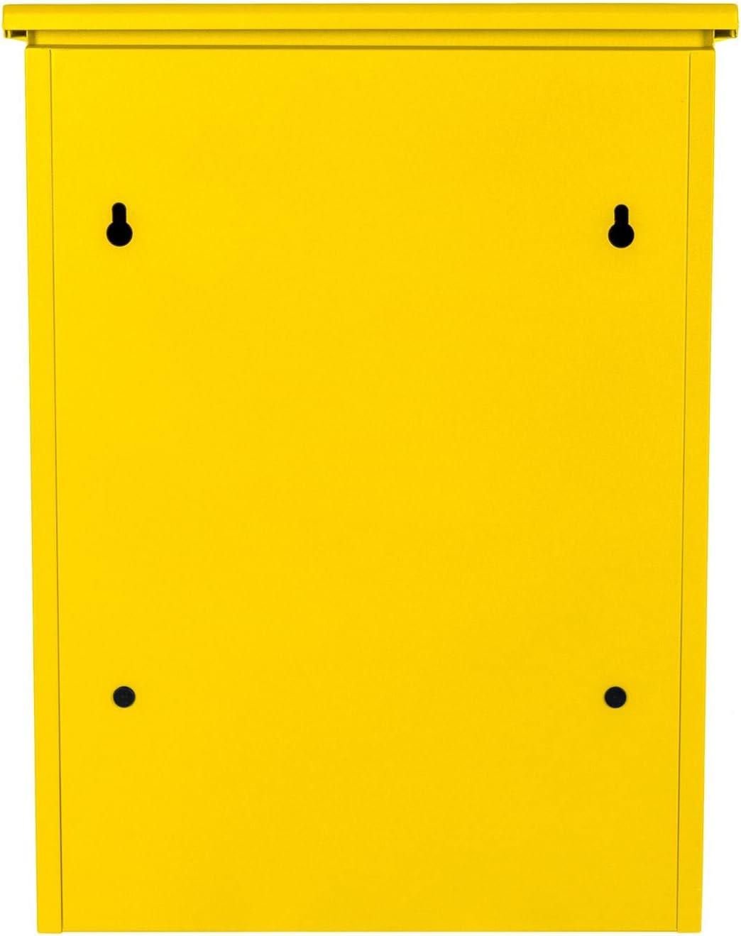f/ür alle Zusteller geeignet 44 x 35 x 58 cm mittelgro/ßer Paketbriefkasten mit Paketfach und Briefkasten Smart Parcel Box sicherer Paketkasten f/ür Zuhause und Unternehmen mit R/ückholsperre blau