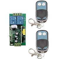 AC220V-250V Control remoto inalámbrico 2 canales Receptor metal
