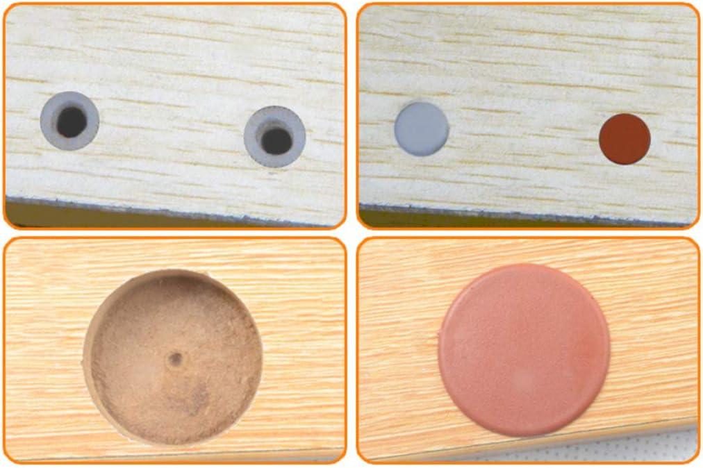Blanco A Homyl 1000x Tap/ón de Agujero de Pl/ástico Tap/ón de Orificio de Bisagra para Muebles Tap/ón Obturador 5 mm