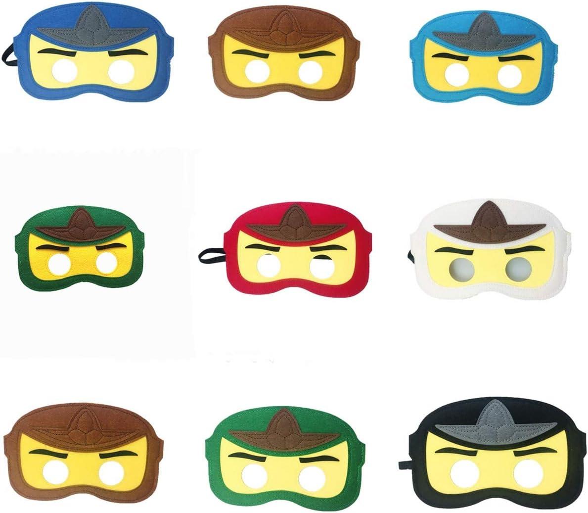 8Pc Ninja Ninjago Felt Mask Kids Birthday Gift Cosplay Party Supplies Party Masks für Children