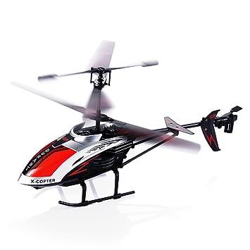 Hélicoptère radiocommandé,Robuste 3.5 canaux infrarouge Équipé d\'un ...