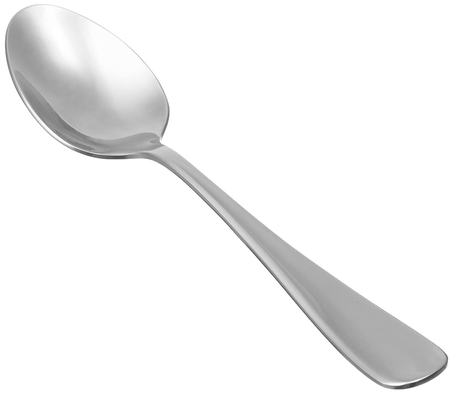 AmazonBasics Stainless Steel Dinner Spoons with Round Edge, Pack of 12