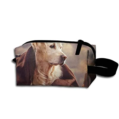 Travel Bag Dog With Toy Toiletry Bag Clash Durable Zipper Wallet Makeup Handbag With Wrist Band