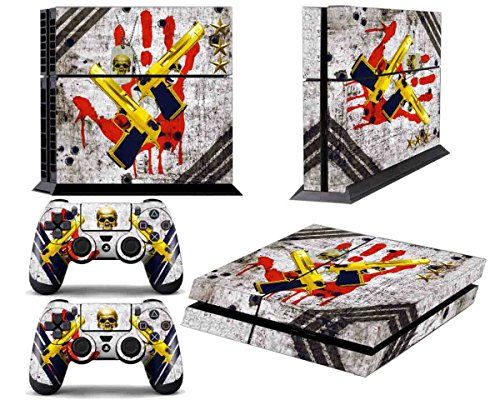 Skins for PS4 Controller - Decals for Playstation 4 Games - Stickers Cover for PS4 Console Sony Playstation Four Accessories PS4 Faceplate with Dualshock 4 Two Controllers Skin - Ghost Ops ()
