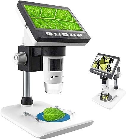 Doifck Usb Digital Mikroskop Mit Bildschirm Hd 4 3 Zoll 1080p Lcd 1000x Vergrößerung Zoom Wiederaufladbare Batterie Endoskop Mit 8 Led Für Windows Pc Sport Freizeit