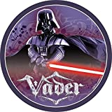 "Star Wars Edible Image Darth Vader Yoda Luke Skywalker Photo Sugar Frosting Icing Cake Topper Sheet Birthday Party - 8"" ROUND - 10759"