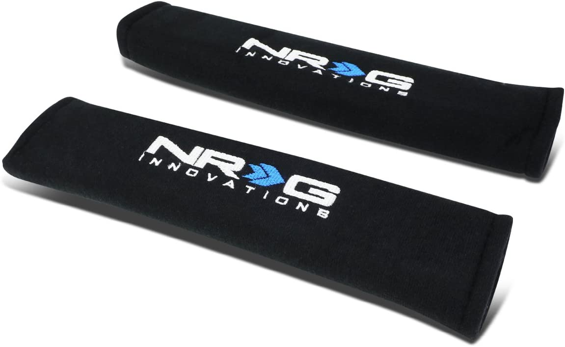 Pack of 2 NRG Innovations SBP-27RD Seat Belt Pads Cover