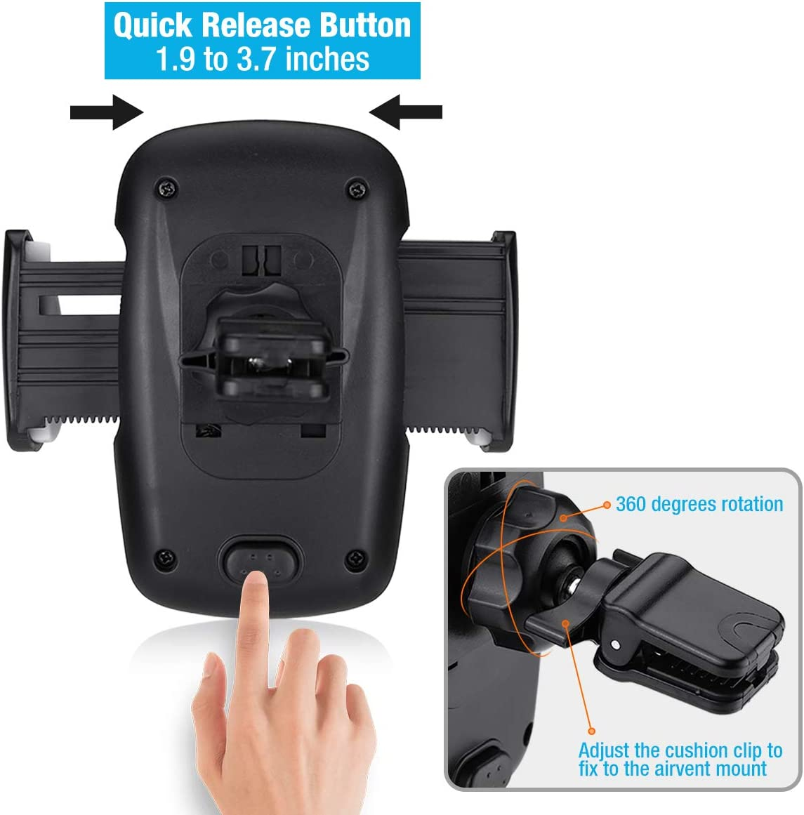 All Samsung cellphones Universal Air Vent Mount Holder Cradle Car Cell Phone Holder for All iPhones Huawei LG Google Nexus and More FIYAVO Car Phone Holder