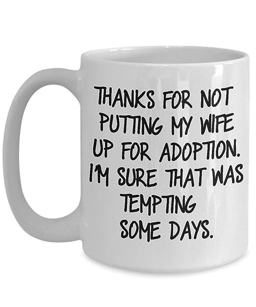 Taza de café para la suegra Gracias por no poner a mi esposa ...