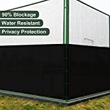 SoLGear 4' x 100' Privacy Fence Screen Mesh with Brass Grommets 140GSM Heavy Duty Pefect for Outdoor Back Yard Patio and Deck Black-Customized Sizes Avaliable