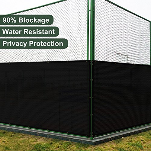 UPC 680220682103, SoLGear 4' x 100' Privacy Fence Screen Mesh with Brass Grommets 140GSM Heavy Duty Pefect for Outdoor Back Yard Patio and Deck Black-Customized Sizes Avaliable