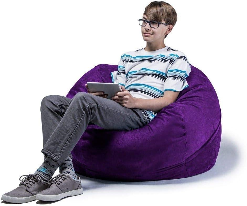 Amazon.com: Soft Comfortable Fluffy Bean Bag Chair for ...