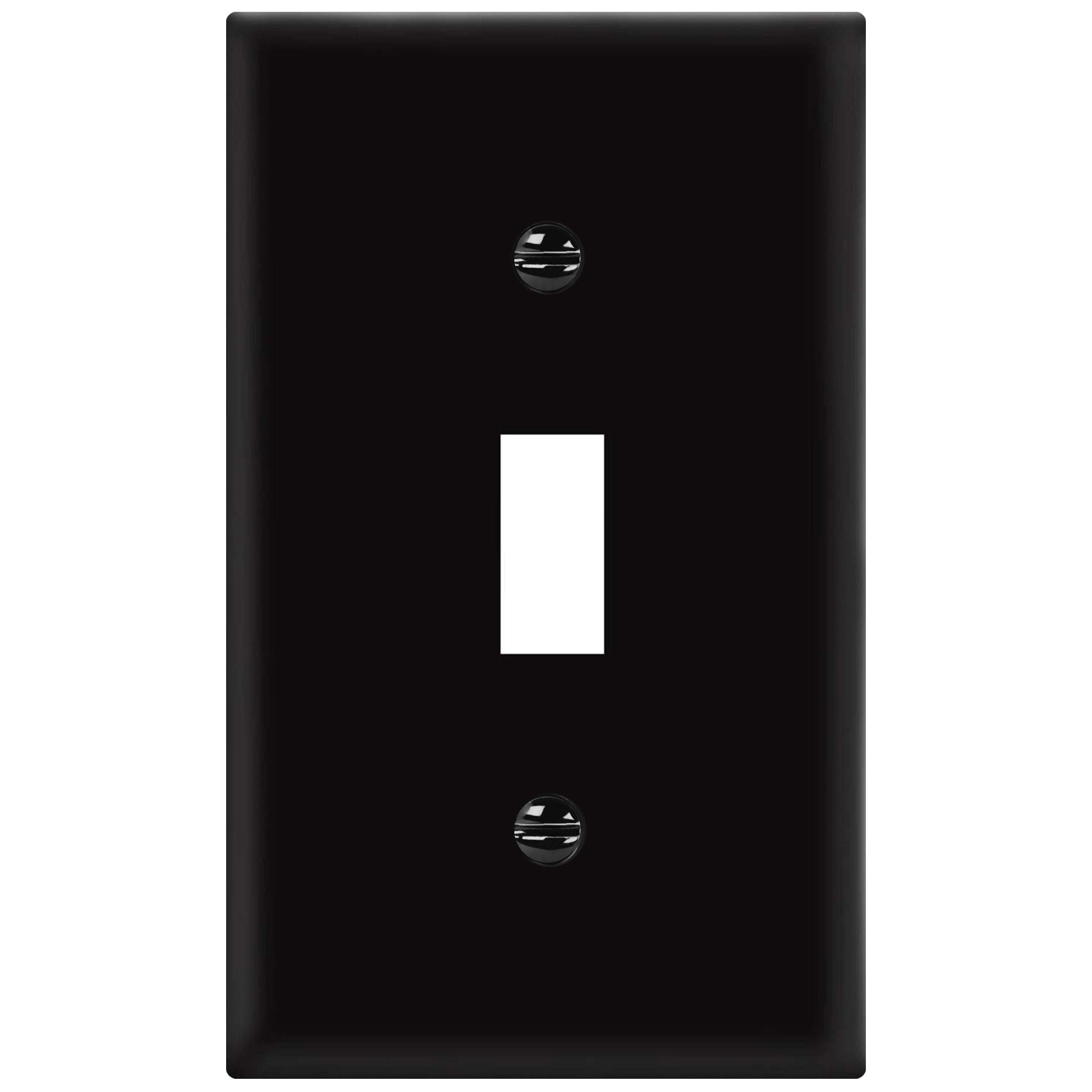 ENERLITES 8811-BK Toggle Wall Plate, Standard Size 1-Gang, Polycarbonate Thermoplastic, Black by ENERLITES