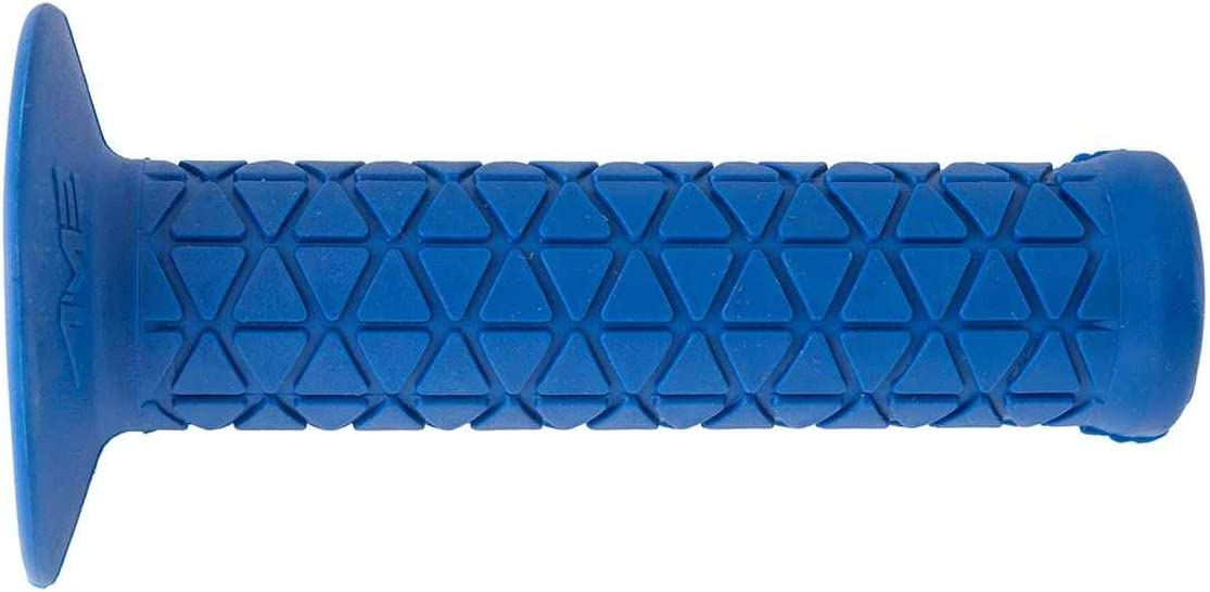 AME TRI BLUE FLANGED BMX BICYCLE SCOOTER GRIPS