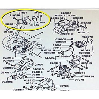 genuine mitsubishi transmission mount mb581696 3000gt stealth dohc non -  turbo 1992 1993 1994 1995 1996