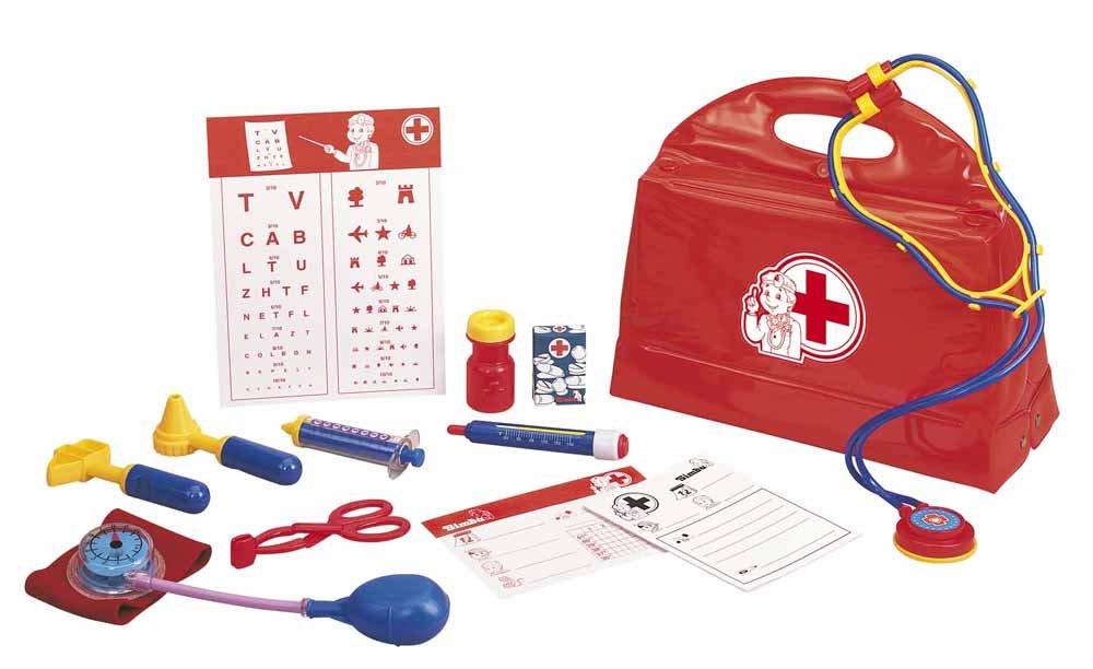 Simba 105545506 - Doktorkoffer, 13-teilig, rot Simba Toys