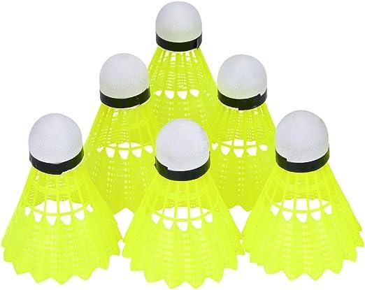 Volant en Nylon Durable 6Pcs Balle de Badminton Set pour lentra/înement de Comp/étition