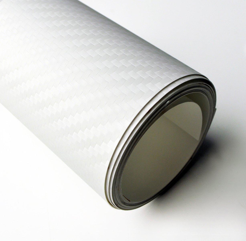 3M ダイノック リアル カーボンフィルム シール ステッカー CA-419 ホワイト/白 (1m x 30cm) 高品質ハイグレード 3D B0073J75SG  - 1m x 30cm