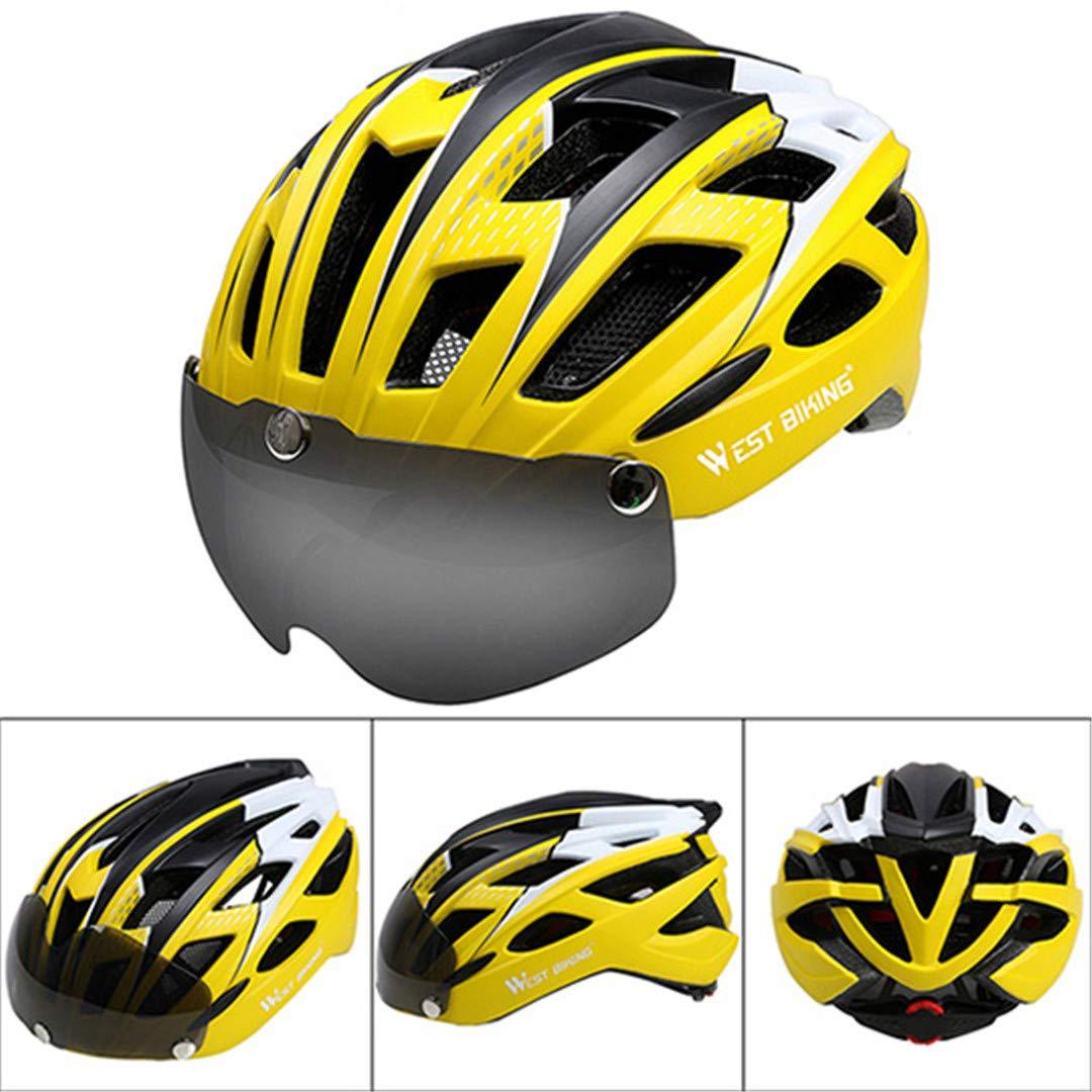 Hel-Metsn Fahrradhelm Sonnenbrille Radfahren Brillenglas Integral geformte Mountain Road Fahrradhelm