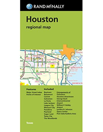 Rand McNally Houston regional map, TX (Green Cover)