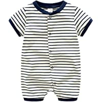 Fairy Baby Infant Baby Boys Outfit Short Sleeve Cotton Rompers Sailor Nautical Jumpsuit