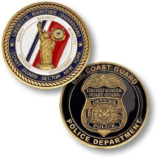 Coast Guard Sector NY -- Police Department Challenge Coin ()