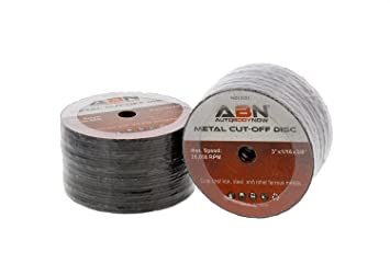 Sand Level and Trim Cut ABN 3in Metal Cut Off Blade 50-Pack with 20,000 RPM Max Speed Use With 3//8in Arbor