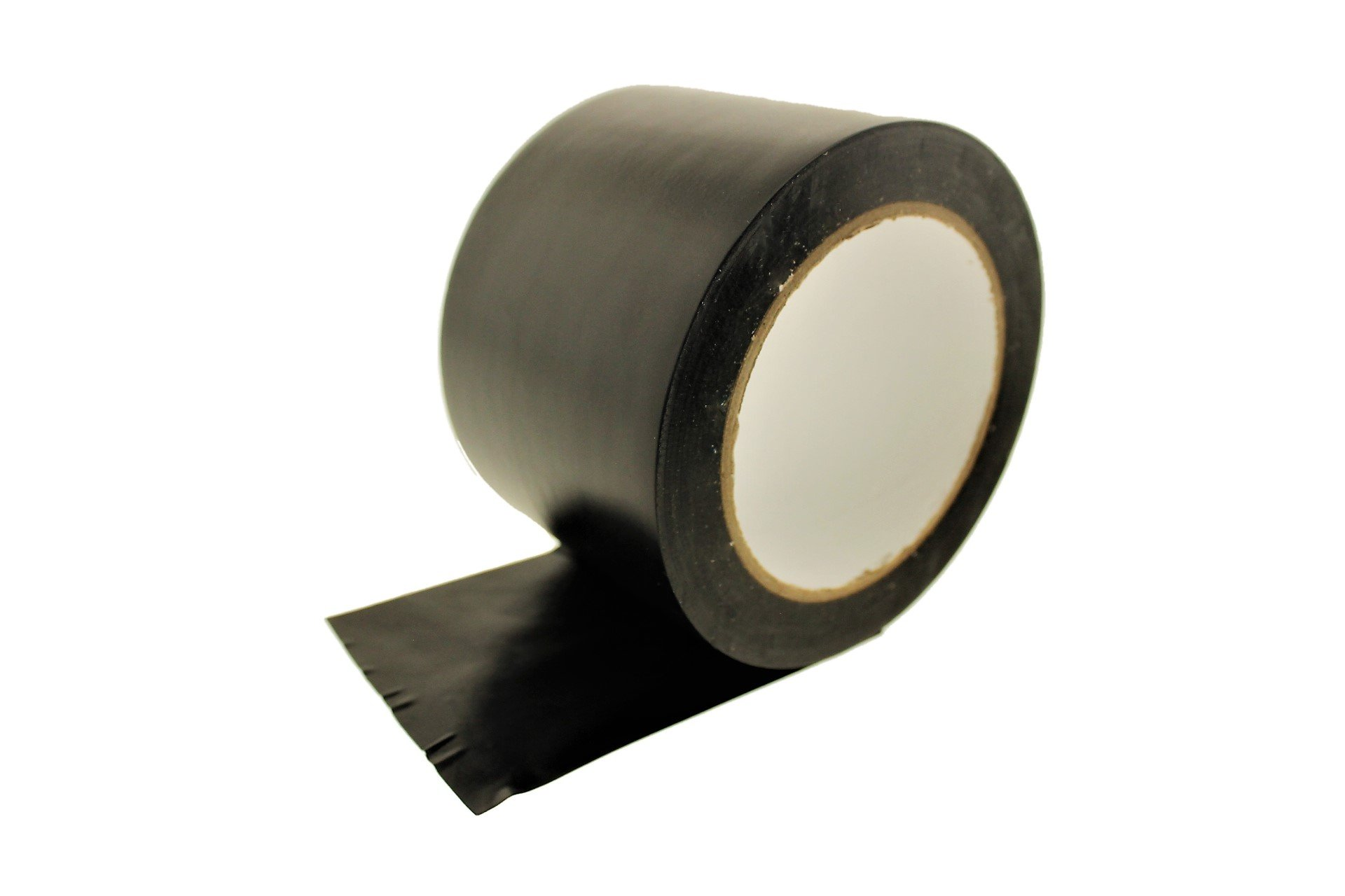 3'' Black Vinyl Tape PVC Electrical Sealing Floor OSHA Safety Marking Natural Rubber Adhesive (2.83 in 72MM) 36 yard 7 mil
